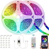 SUNOVO Rubans LED, 20M Bande LED, LED Chambre avec Télécommande, Guirlande Lumineuse LED Décorative pour Chambre, Bureau Game