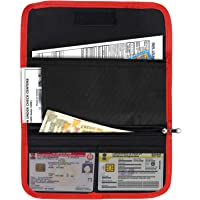 Storite Two Wheeler Document Holder, Car Document Storage Wallet for Registration & Insurance Card– Red/Black (25.5 x 12 cm)
