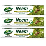 Dabur Herb'l Neem - Germ Protection Toothpaste with No added Fluoride and Parabens - 200 g (Pack of 3)