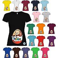 Maglietta personalizzata donna con stampa Ovetto Bimbo Surprise T-shirt vari colori