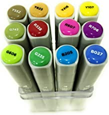 Brustro Twin Tip Alcohol Based Marker Set Of 12 - Basic B