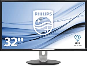 Philips BDM3270QP2/00 81 cm (32 Zoll) Monitor (VGA, DVI, HDMI, Displayport, USB-Hub, 5ms Reaktionszeit, 2560 x 1440, 60 Hz, Pivot) schwarz