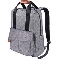 Business Rucksack, REYLEO Reise Laptop Backpack mit Türkis-Futter, 15.6 Zoll Laptop Tasche, Daypack und Tagesrucksack für Männer und Frauen Wasserabweisend Grau-24 Liter RB23