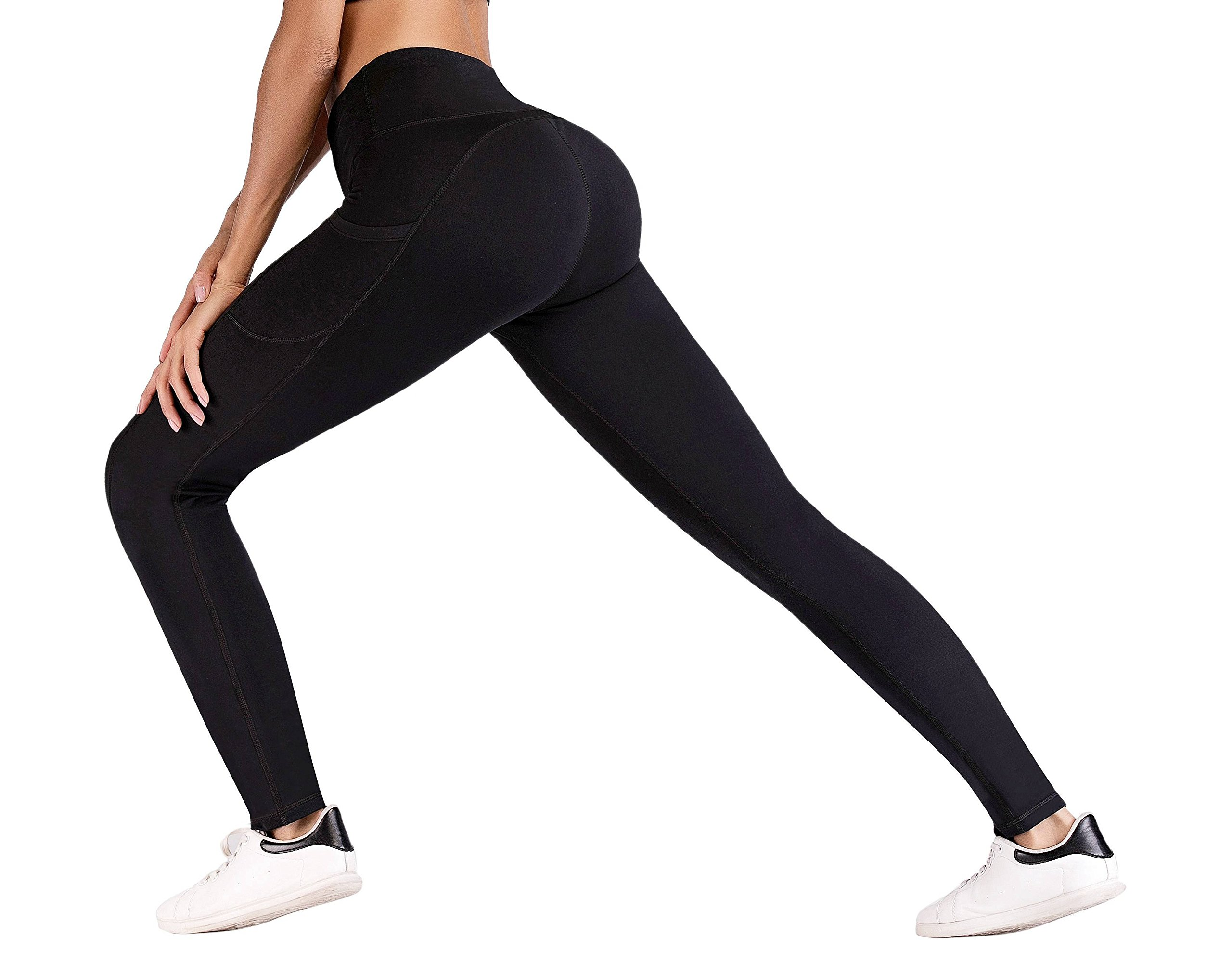 0942098ec5766 IUGA Yoga Pants with Pockets, Tummy Control, Workout Running Leggings with  Pockets for Women