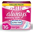 always Cotton Soft Ultra Thin Long Sanitary Pads with Wings - 16 Pads