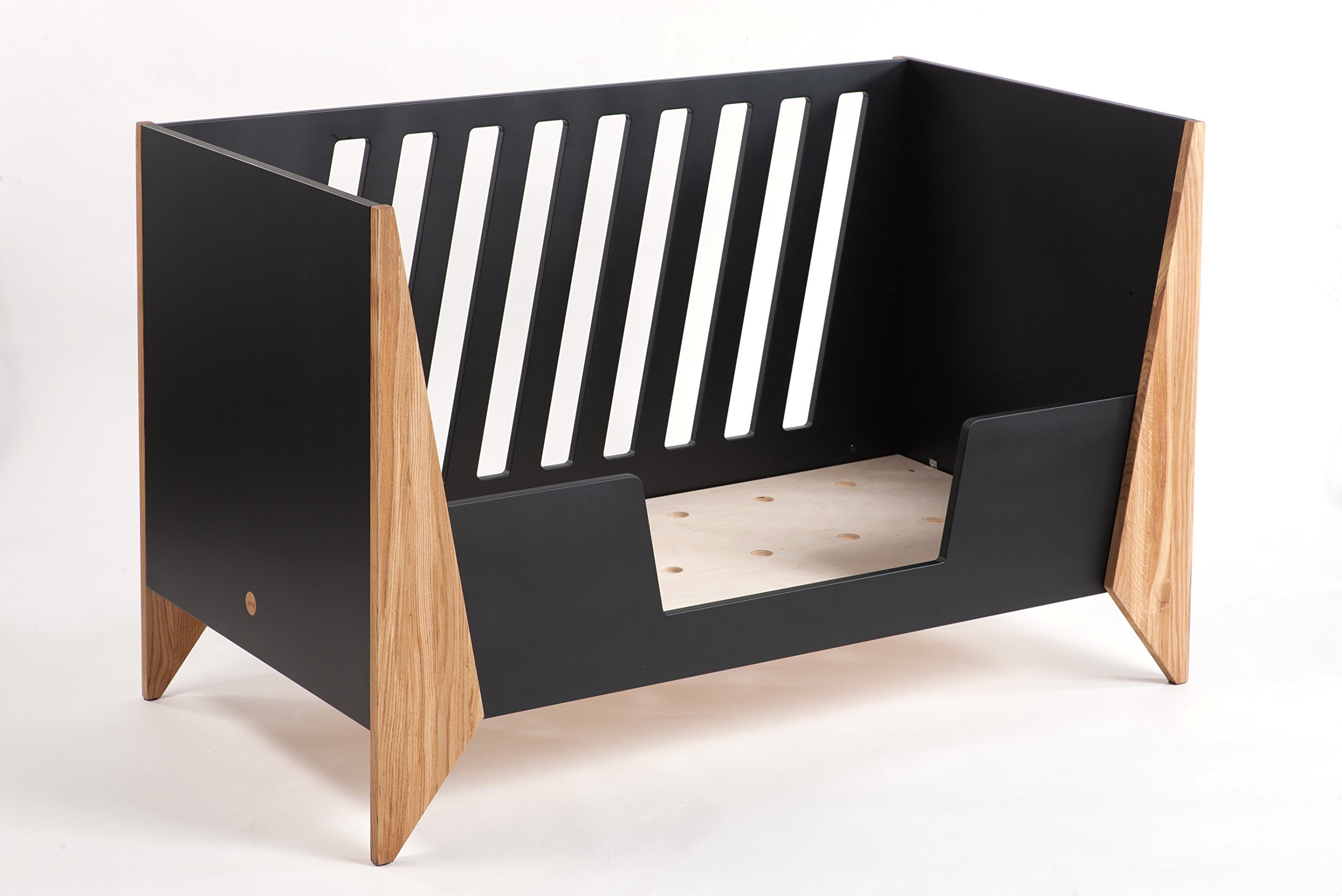 Nursery Cot (Black)  Made from high quality materials Mattress included Unique Scandinavian design 4