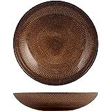 H&H 41033 Glam Bronze Lot de 6 Assiettes Creuses, Verre, 20,5 cm