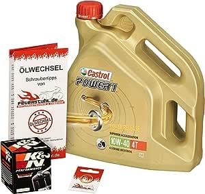 Castrol 10w 40 Öl K N Ölfilter Für Kawasaki Ninja Zx10r 06 15 Zxt00d E F J Ölwechselset Inkl Motoröl Filter Dichtring Auto