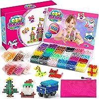 MEOWMEE Recharge Perles, 4800 Pièces 24 Couleurs Perles DIY, Méga Perles Pour Enfants, Modelage de Perles DIY, Ensemble…