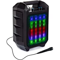 Beatfoxx OutdoorJam LED Bluetooth Lautsprecher - Mobile Karaoke Anlage - Outdoor Speaker mit Radio, USB und AUX - PA…