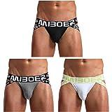 Arjen Kroos Men's Sexy Low Rise Jockstrap Breathable Cotton Underwear
