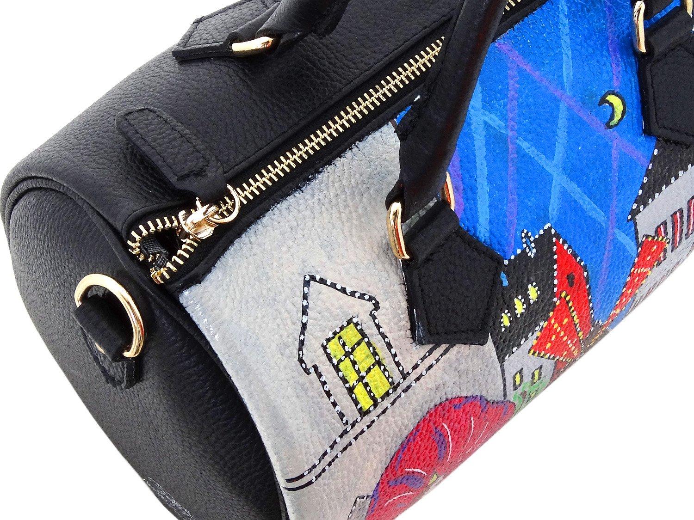 Hand-painted genuine leather shoulder bag – MOULIN ROUGE - Women Bag, Hand Bag, Genuine Leather, Made in Italy, Painted Leather, Handbag and Shoulder Bag, Craftsmanship - handmade-bags
