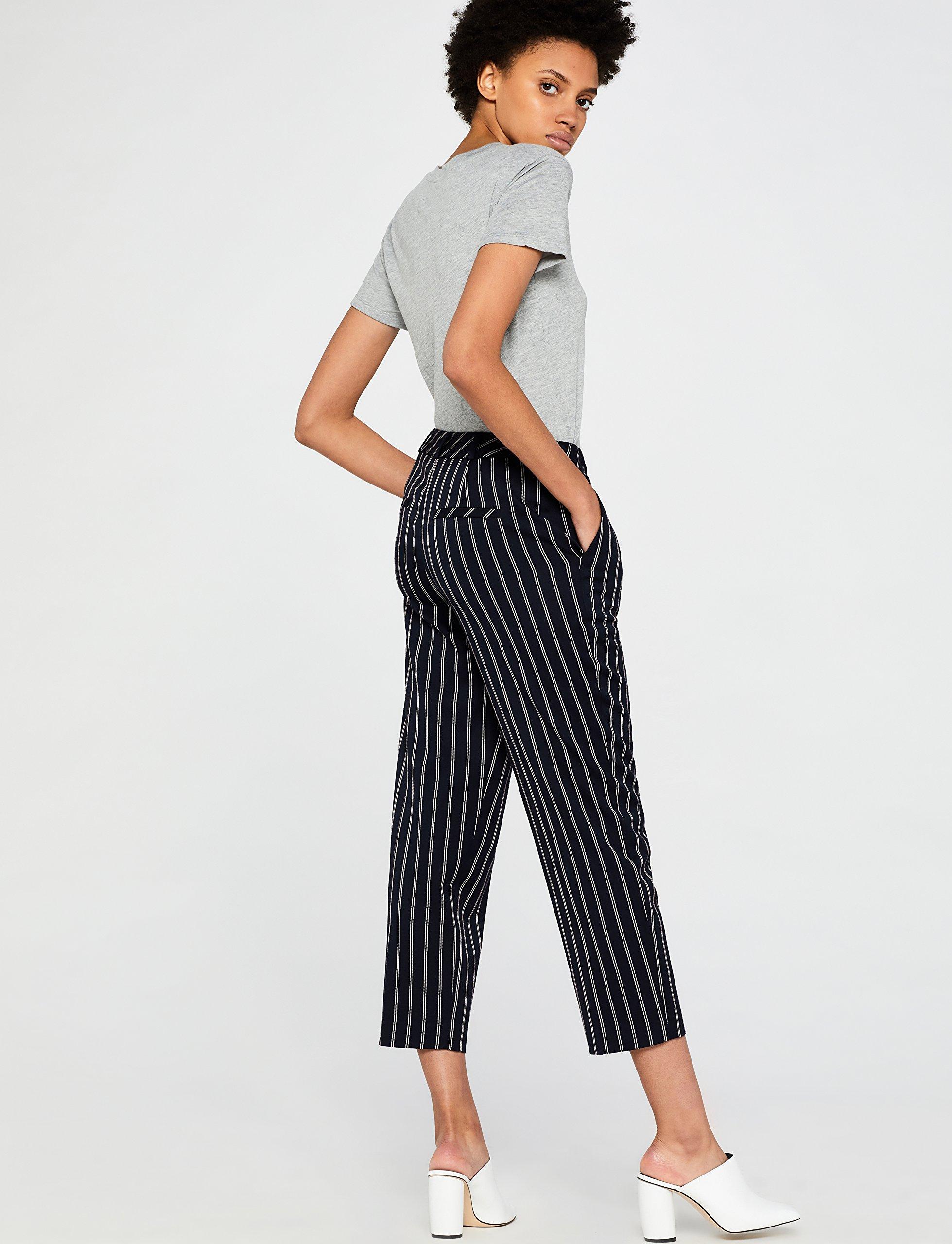 Marca Amazon – find. Pantalones Rayas Mujer