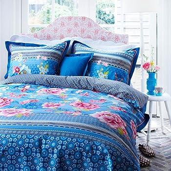 pip studio pip bettw sche chinoise blau 155x220 cm 80x80 cm k che haushalt. Black Bedroom Furniture Sets. Home Design Ideas