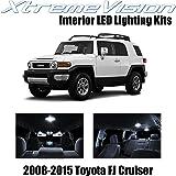 Xtremevision Interior LED for Toyota FJ Cruiser 2008-2015 (4 Pieces) Pure White Interior LED Kit + Installation Tool