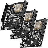 AZDelivery 3 x ESP32 NodeMCU D1 R32 Wlan utvecklingskort med CH340G och WiFi + Bluetooth IoT med micro USB inklusive E-bok!