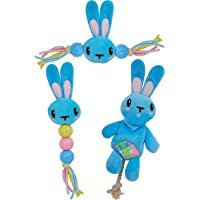 Goofy Tails Babypet Skinny Rabbit Soft Toys Combo | Squeaky Plush Toys for Puppy & Stuffed Toy for Dogs (Small Breed)