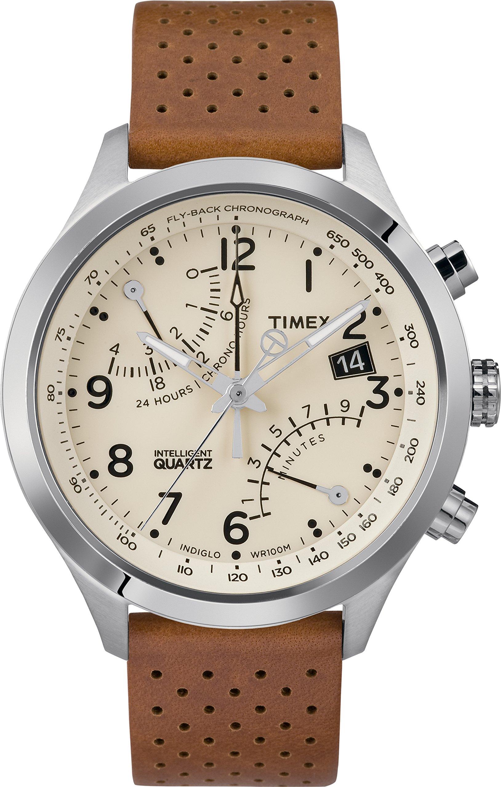 Timex Reloj Analógico para Hombre de Cuarzo con Correa en Cuero TW2R55300