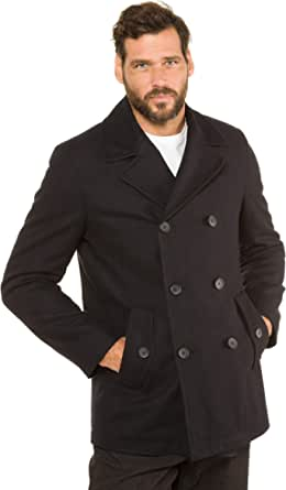 JP 1880 Menswear Big & Tall Plus Size L-8XL Pea Double Breasted Fully Lined Jacket 700196