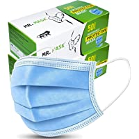Roseate Mr Mask Disposable (Pack of 100) with Nose Pin Non Woven Surgical 3 Ply Face Mask (Box Packaging)