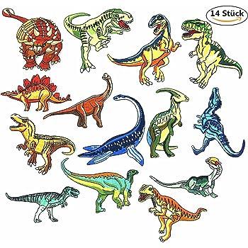 DoBestLJZ Patches Zum aufbügeln,14 Stück Dinosaurier Patch Sticker ...