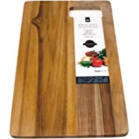 Grande planche à découper en bois de teck avec poignée encastrée   Planche Planche à découper en bois 40x 25cm
