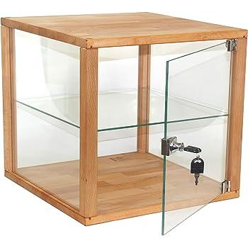 isfort holzhandels gmbh glaskubus glast r mit schloss schaukasten vitrine 38x40x40cm gro. Black Bedroom Furniture Sets. Home Design Ideas