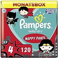 Pampers Windeln Pants Größe 4 (9-15kg) Baby Dry, 120 Höschenwindeln, MONATSBOX, Superhelden, Einfaches An- und Ausziehen…