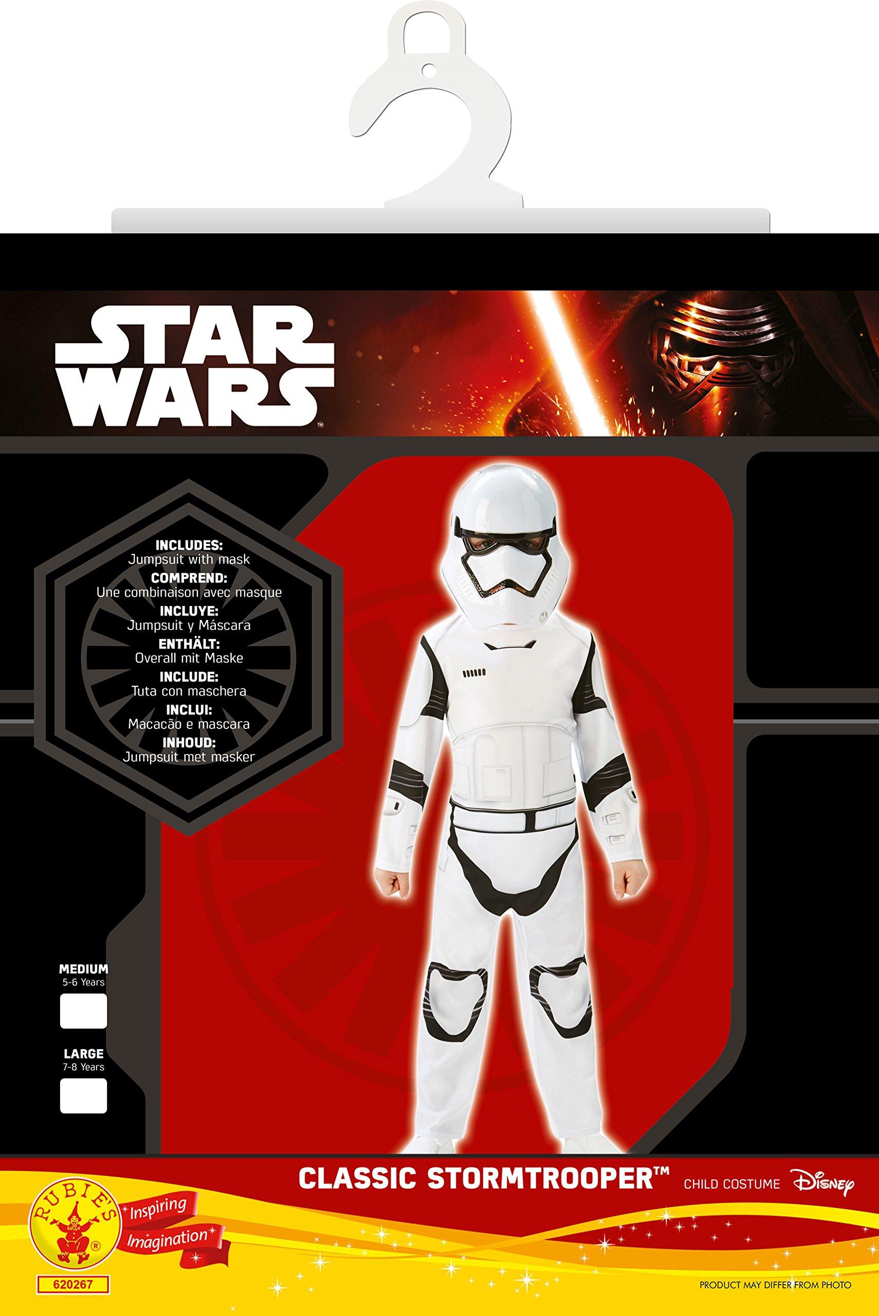 Mezza Maschera Tuta Star Wars Stormtrooper 2 Pezzi per Bambini Bianco Nero 3 spesavip