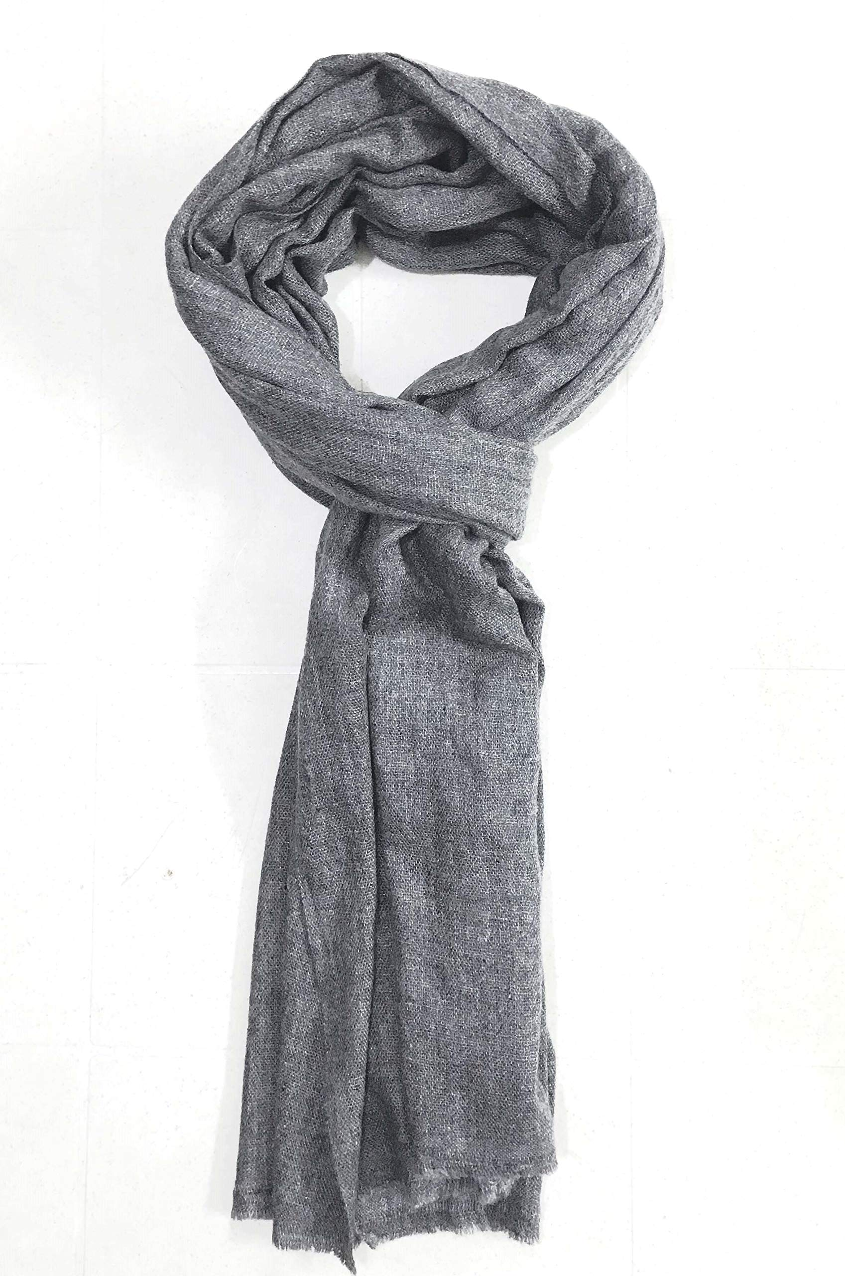 Pashmina de Cashmere 100% Auténtica de Altísima Calidad – Bufanda Suntuosa y Extrasuave Hecha en la India – Color Natural – Ideal Como Regalo