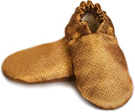 SKIPS Comfortable Baby Booties Shoes for Baby Girl & Boy - Gold Print