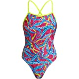 Funkita Women's Squeaky Squid Swimsuit with Lace-Up Back