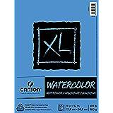 Canson XL Series Aquarelblok met textuur, gebruik met kleurstift, inkt, pastelkleuren en acryl, zijdelingse draadbinding, 63,