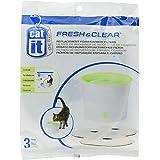 Catit 55601 Single Fresh & Clear, Vervangende Reinigingsfilter voor 3 Liter Drinkfontein, 1 Set 3 Stuks
