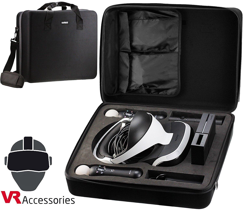 Navitech Noir dur transporter sac / housse / couverture avec bandoulière pour le PlayStation VR PSVR