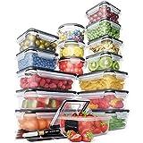 Lot Boites de Rangement – Boites de Rangement Plastique avec Couvercle Pratique (16 pièces) – Boites Plastique Etanches – San