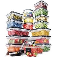 Lot Boites de Rangement – Boites de Rangement Plastique avec Couvercle Pratique (16 pièces) – Boites Plastique Etanches…