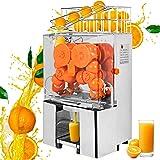 VEVOR Presse-Agrumes Commerical en Acier Inoxydable, Extracteur de jus électrique 120W, Machine à centrifuger Presser efficac