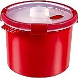"""CURVER   Cuit vapeur Smart """"2 en 1"""" 3L, Rouge, 22 x 22 x 17 cm, Plastique"""