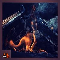 Fireplace in Slow Motion - Fire, Smoke & Burning Logs