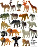 SaleON® 20pc Wildlife Model Children Puzzle Early Education Gift Mini Jungle Animal Toy Set Realistic Animal Figures…