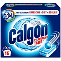 Calgon 3-in-1 Washing Machine Cleaner and Water Softener, 15 Tablets, Pack of 1