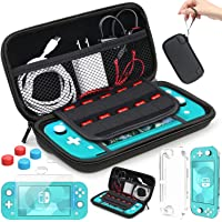 HEYSTOP Compatible Nintendo Switch Lite Carrying Case, Mini Switch Lite Cover Case + Tempered Glass Screen Protector…