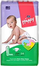 Bella Baby Happy Large Diapers (34 Pieces)