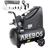 Arebos Druckluftkompressor | Kompressor | ölfrei | 1100W | 24 L | 8 bar | Ansaugleistung 165 L/min, | Druckminderer | inkl. 1