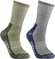 YUEDGE Men's Merino Wool Hiking Walking Trekking Socks Merino Wool Cushioned Crew Socks For Hiking Backpacking Climbing Winter
