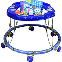 Baby Activity Walker with Unique Horn Sound and Foldable Blue Shine Color for 6 to 12 Months Baby