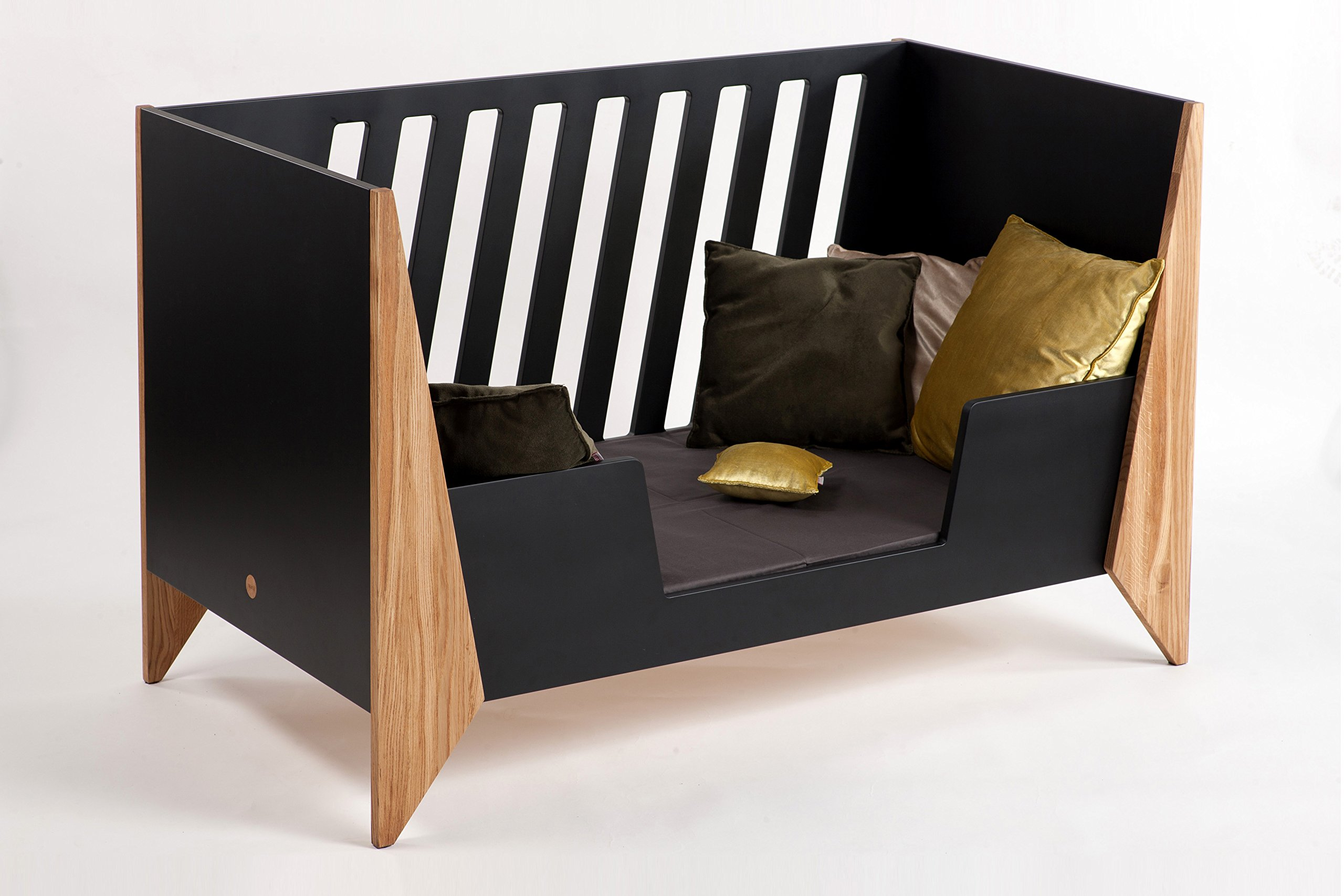 Nursery Cot (Black)  Made from high quality materials Mattress included Unique Scandinavian design 5