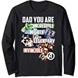 Marvel Avengers Dad You Are Incredible Manche Longue
