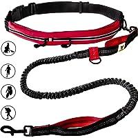 Laisse de jogging avec ceinture | Laisse pour canicross de 120 à 180cm pour chiens de taille moyenne à grande | Faire du…